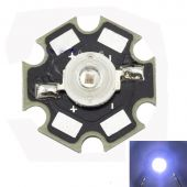 LED 3 watt Cool White, 10000-15000k, 20 mm