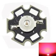LED - 3W Deep Red 660nm High Power  20mm