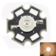 LED-uri 3 watt Warm white 3000-3500k, 20 mm